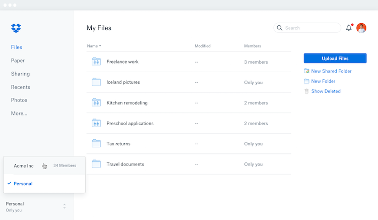Dropbox cloud and mobile file sharing