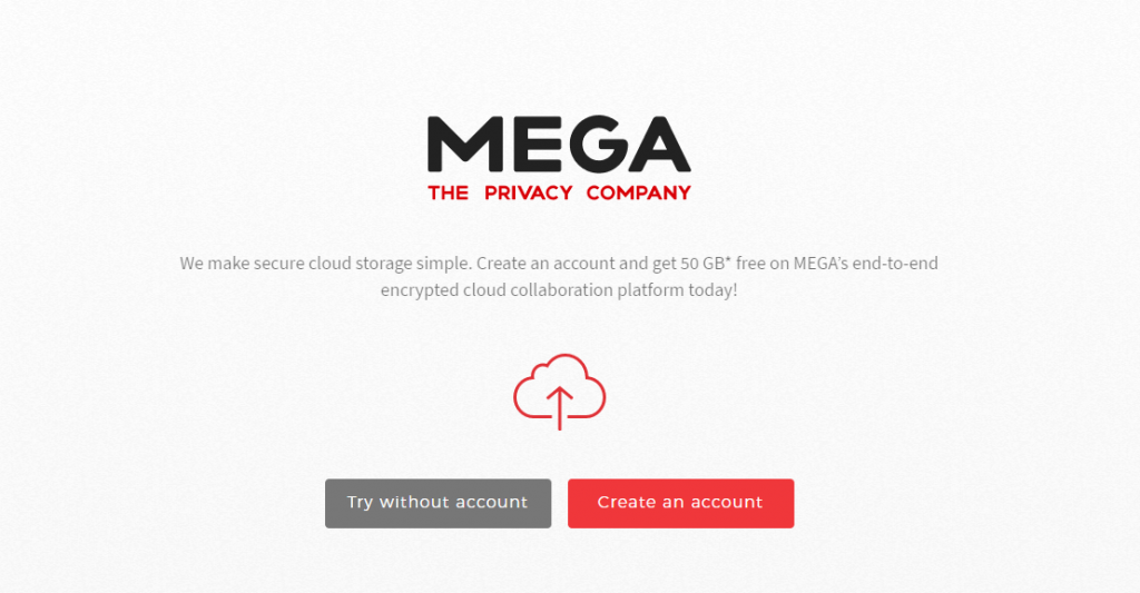 Mega Large Files Sharing Software