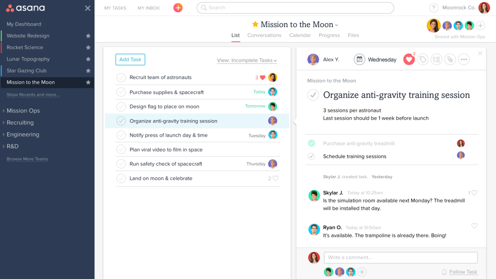 Tasks Management with Asana