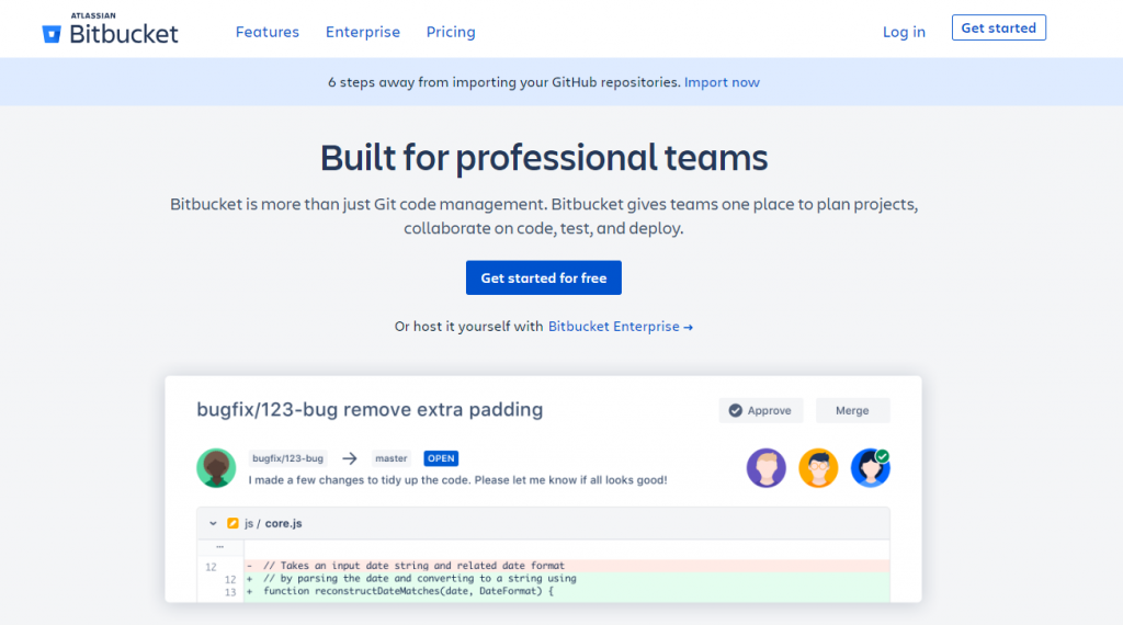 BitBucket Code Repository for Professional Teams