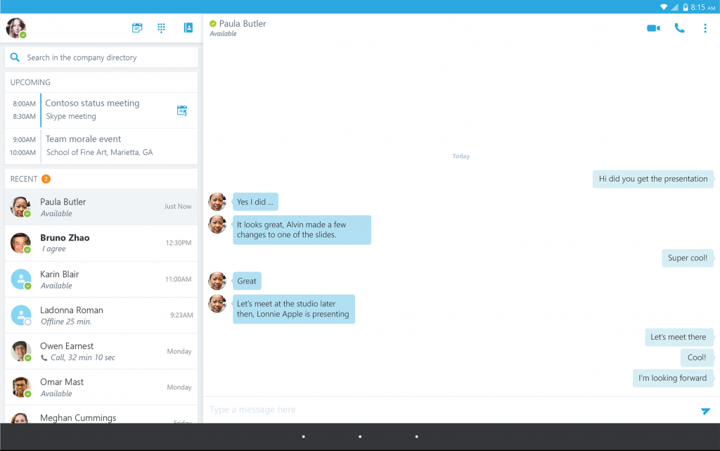 skype desktop screenshot