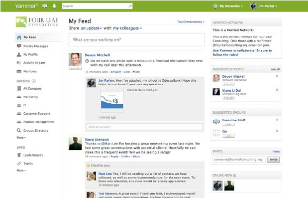 yammer community screenshot