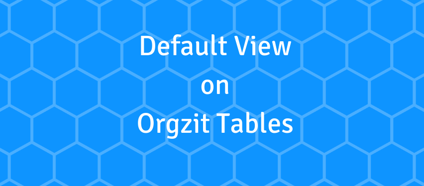 Per table default view to change the way users view data right out of the box
