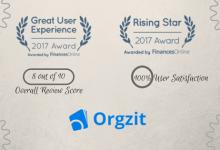 Orgzit FinanceOnline Award